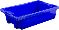 Nest-/stapelbak, afm: 600x400x160 mm standaardblauw