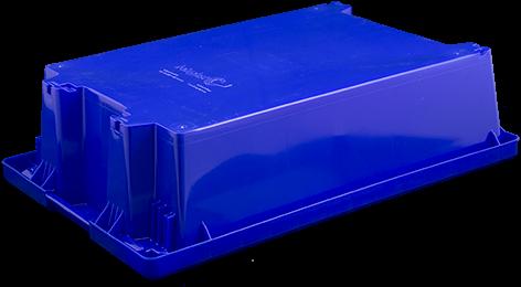 Nest-/stapelbak, afm: 600x400x160 mm standaardblauw-2