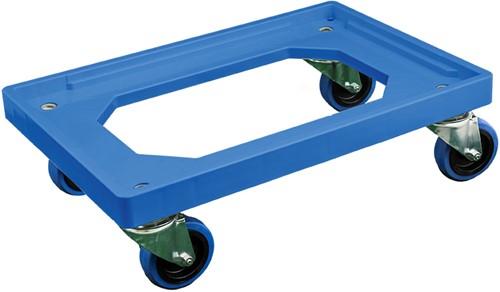 Dolly 600x400x175 mm met elastisch rubber wielen
