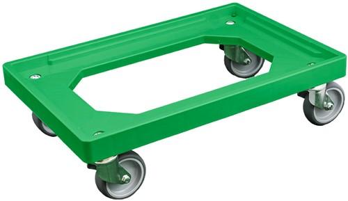 Dolly 600x400x175 mm met rubber wielen