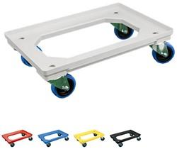 Dolly 610x410x175 mm met elastisch rubber wielen