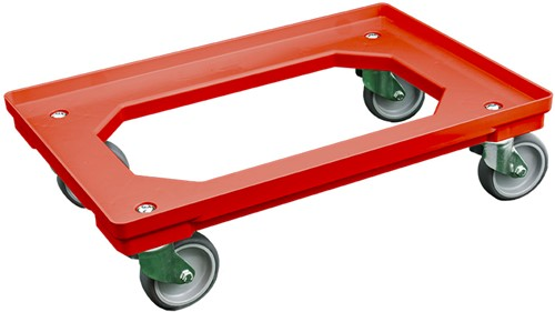 Dolly 610x410x175 mm rood