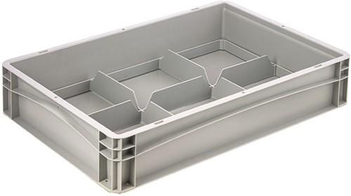 Basicline glazenbak 600x400x120 mm 6 vakken