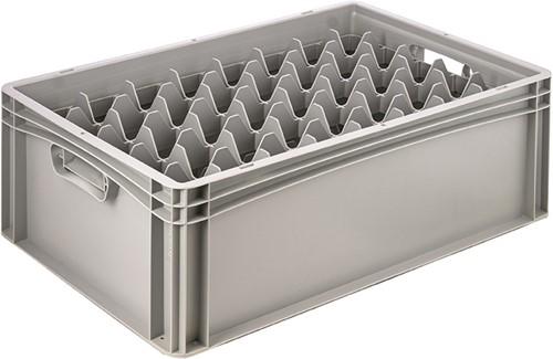 Basicline glazenbak 600x400x220 mm 40 vakken