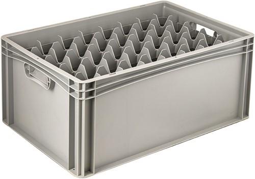 Basicline glazenbak 600x400x270 mm 40 vakken