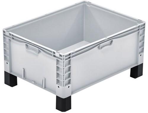 Basicline Plus stapelbak 800x600x420 mm met versterkte bodem en poten