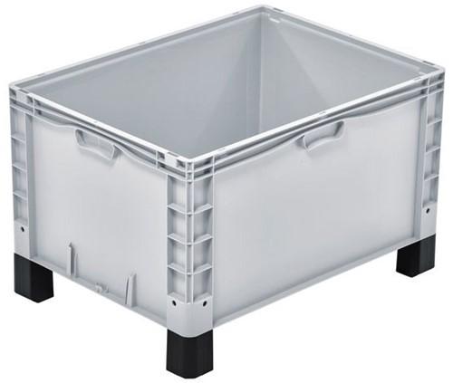 Basicline Plus stapelbak 800x600x520 mm met versterkte bodem en sleeplatten