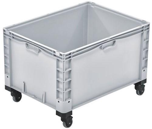 Basicline Plus stapelbak 800x600x520 mm met versterkte bodem en wielen