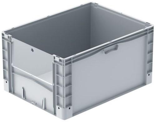 Basicline Plus uitpakbak 800x600x420 mm met uitpakklep en versterkte bodem
