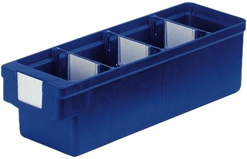 Magazijnbak 300x93x83 mm blauw