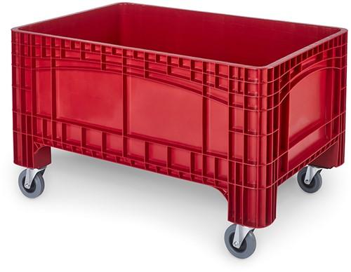 Verrijdbare palletbox 1200x800x730 mm met 2 geremde wielen