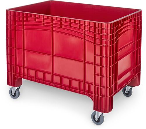 Verrijdbare palletbox 1200x800x950 mm met 2 geremde wielen