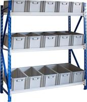 Bakkenstelling 2000x600x2020 mm inclusief 15 bakken 220 mm hoog