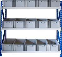 Bakkenstelling 2000x600x2020 mm inclusief 15 bakken 220 mm hoog -2