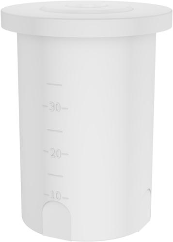 Rond open vat 38 liter