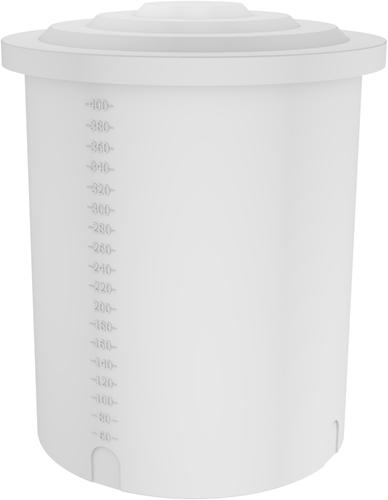 Rond open vat 410 liter