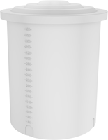 Rond open vat 210 liter