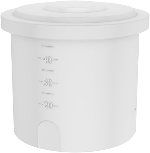 Rond open vat 40 liter
