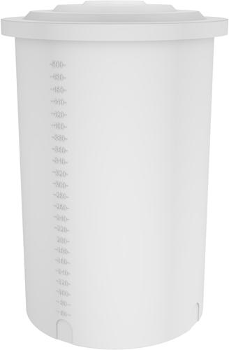 Rond open vat, inhoud: 500 liter naturel