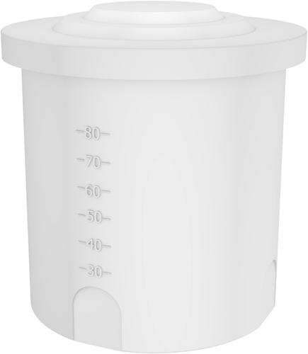 Rond open vat 150 liter