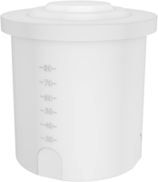 Rond open vat 80 liter